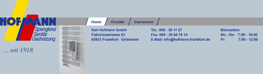 Hofmann sanitär frankfurt